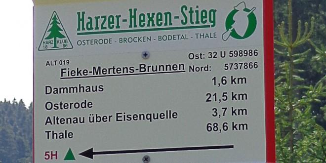 Harzer Hexenstieg Etappen ab Osterode