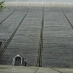 Staumauer der Rappbodetalsperre im Harz