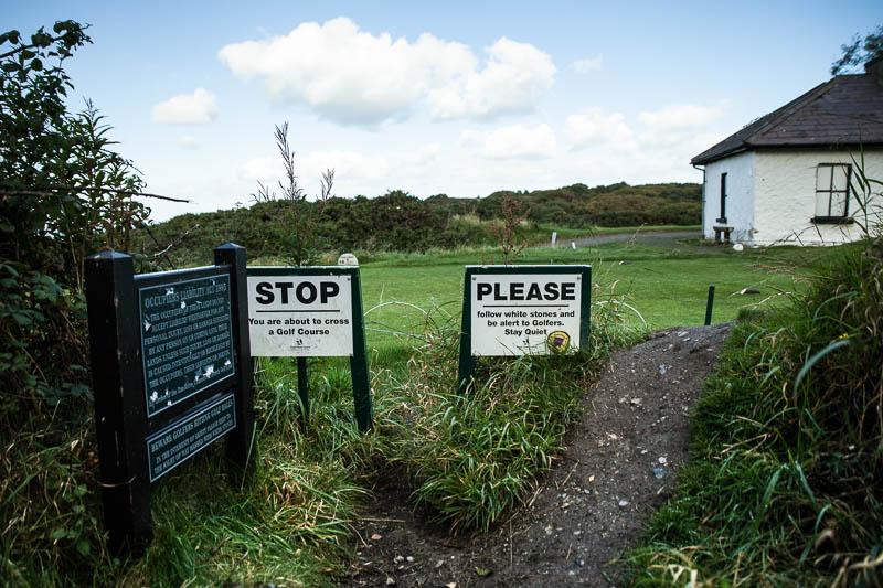 golfplatz-schilder