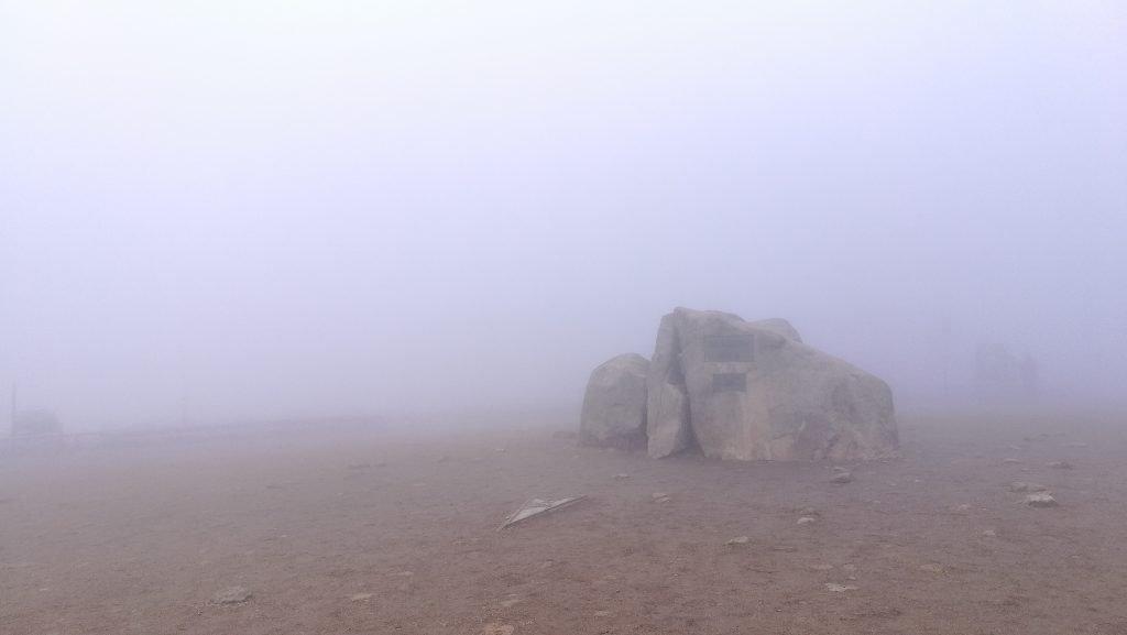 brockenstein im nebel